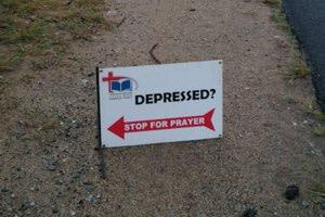 Stop for prayer board on the roadside