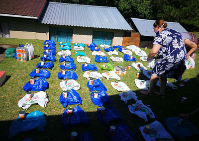 Packing the Food Parcels