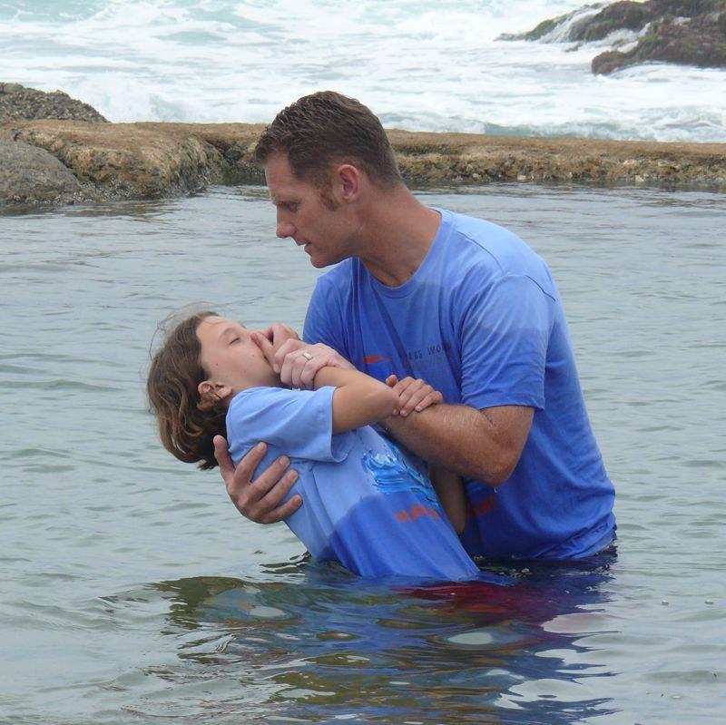 Child being baptised