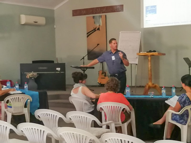 Wilko presenting the Father's Embrace Course